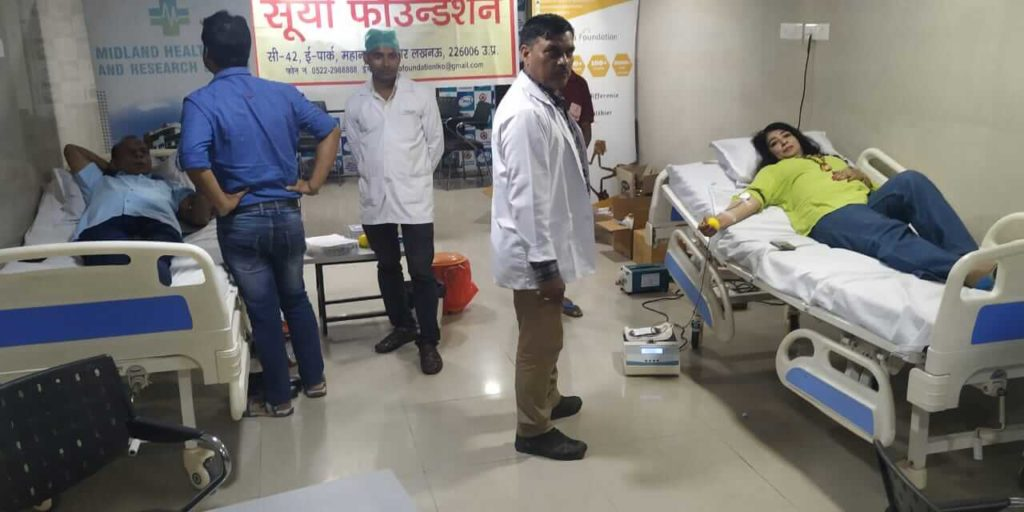 blood donation drive in lucknow